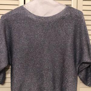 Gorgeous silver metallic sweater- Chico's!